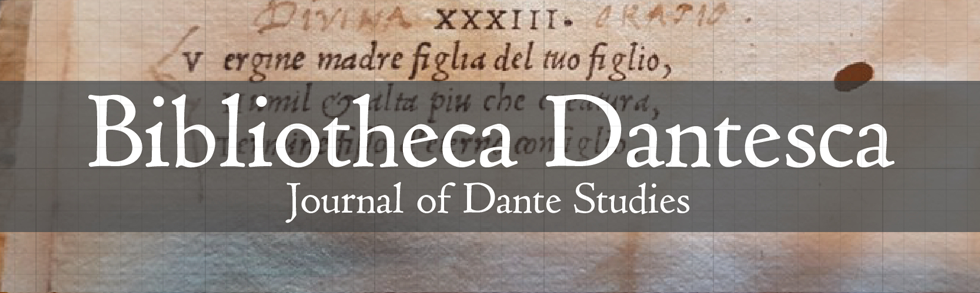 Bibliotheca Dantesca: Journal of Dante Studies