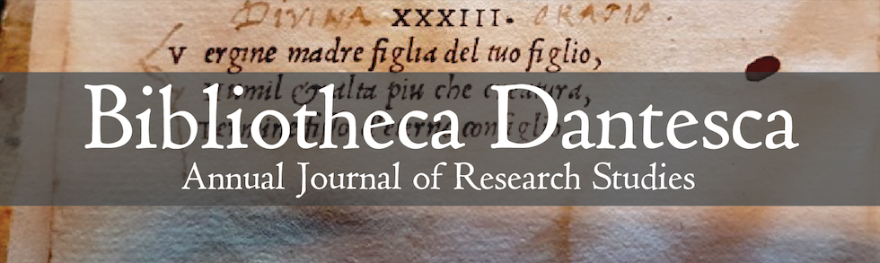 Bibliotheca Dantesca: Annual Journal of Research Studies