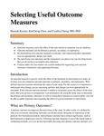 Selecting Useful Outcome Measures by Hannah Kostan; KerCheng Chen; and Cynthia Cheng MD, PhD