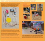 Using the art practice of play to communicate legged robotics research concepts