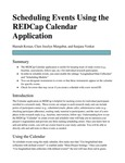 Scheduling Events Using the REDCap Calendar Application
