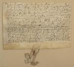 Facsimile of LJS 110, John Elys deed : by Dot Porter
